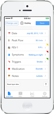 AsthmaMD iPhone app